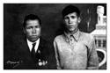 Кушаков С.М. с учителем Киселёвым в д.Мари-Отары (1938 г.)