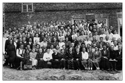 Участники 1-х республиканских =Педагогических чтений=, проходивших 16-18 августа 1951 года. Среди участников - Кушаков С.М. (третий слева во втором ряду). За выступление с докладом =Как я использую наглядные пособия на уроках марийского языка= награждён =Почётной грамотой=. Снимок сделан во дворе педучилища ИУУ 17 августа. Фото Овечкина.