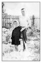 У куста смородины с дочкой Зоей (примерно 1963 год